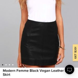 Free People Leather Skirt Size 10 never worn